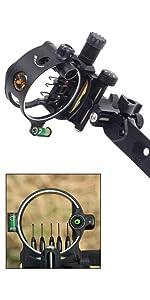 Archery 5//7 Pin Bow sights Retina Micro adjust Tool Less Design Camo//Black