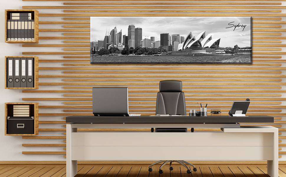 Sydney skyline canvas wall art cityscape picture bedroom office paintings black white decoration