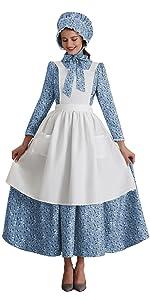Pioneer Costume Dress Prairie Colonial Dress