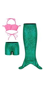 3pcs mermaid costume dress up Outfits B07QXZ4NDM