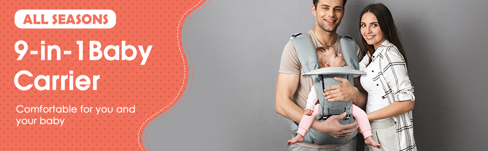 OMORC Infant Soft Carrier, Convertible Baby Hip Seat Carrier Waist Stool