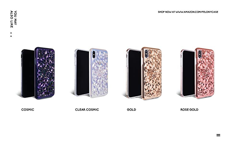 felony case matte black kaleidoscope iphone xs max case