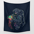Fantasy Spaceman Tapestry