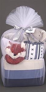 Blue Baby Gift Basket