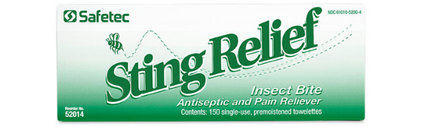 Sting Relief Wipes 150 Count