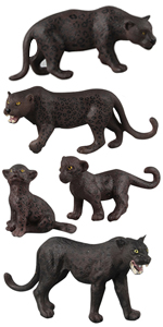 panther animal figure model toy