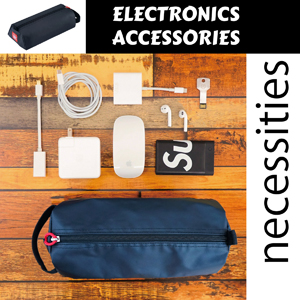 electronic accessories organizer for cables cords power bank charger adapter mini mouse earbuds usb