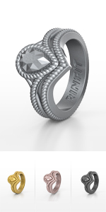Silicone Diamond Ladies Silicone Wedding Rings