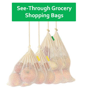 See-Through Grocery Shopping Bags