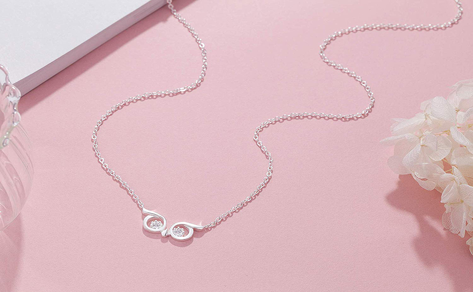 Burning Love 925 Sterling Silver Owl Necklace