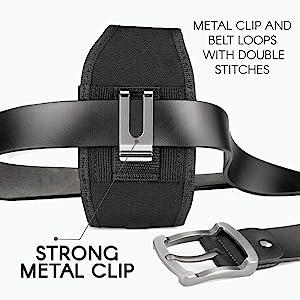 Sonim XP8800 Rugged Belt Clip Phone Case Holster Pouch