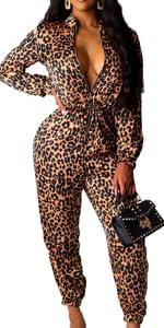 leopard jumpsuits for women