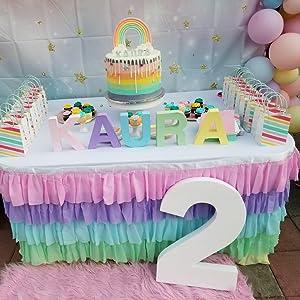 rainbow table skirt