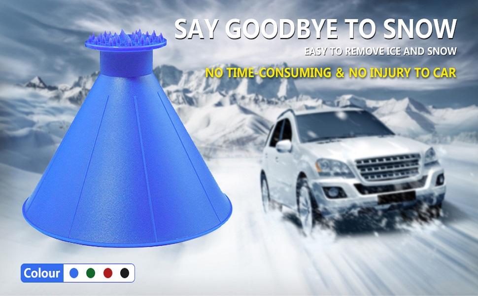 ice scraper car snow removal shovel tool car windshield snow scraper magic funnel snow removal tool