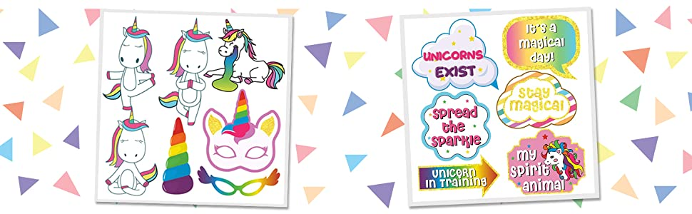 unicorn photo props