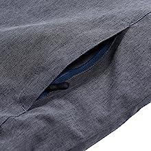 Zippered Side Pocket