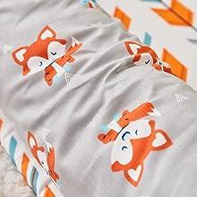 cute fox portable crib bed