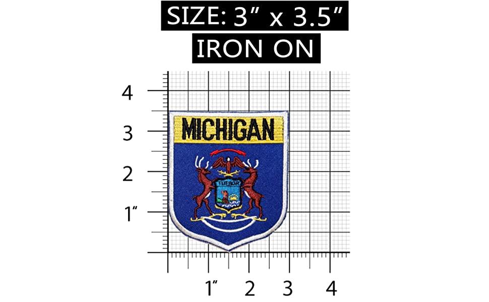 State Flag Shield Michigan