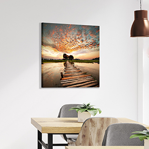 Lake canvas wall art