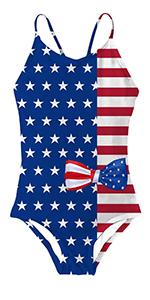 girls American Flagprint swimsuit