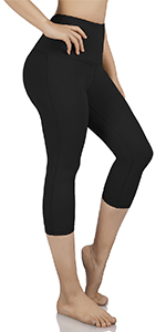 high waisted yoga capris leggings