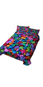 BLESSLIVING Rainbow Marble bedding