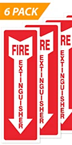 Fire Extinguisher Wall Sticker [6-Pack]