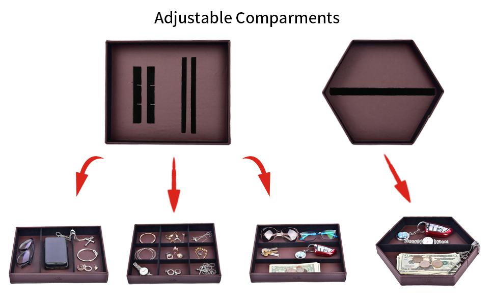Adjustable comparments
