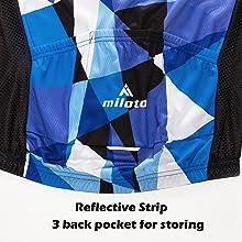 Convenient pockets Reflective strips