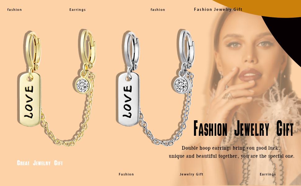 Double Hoop Earrings for Women