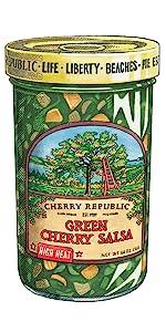 hot cherry salsa Spicy green
