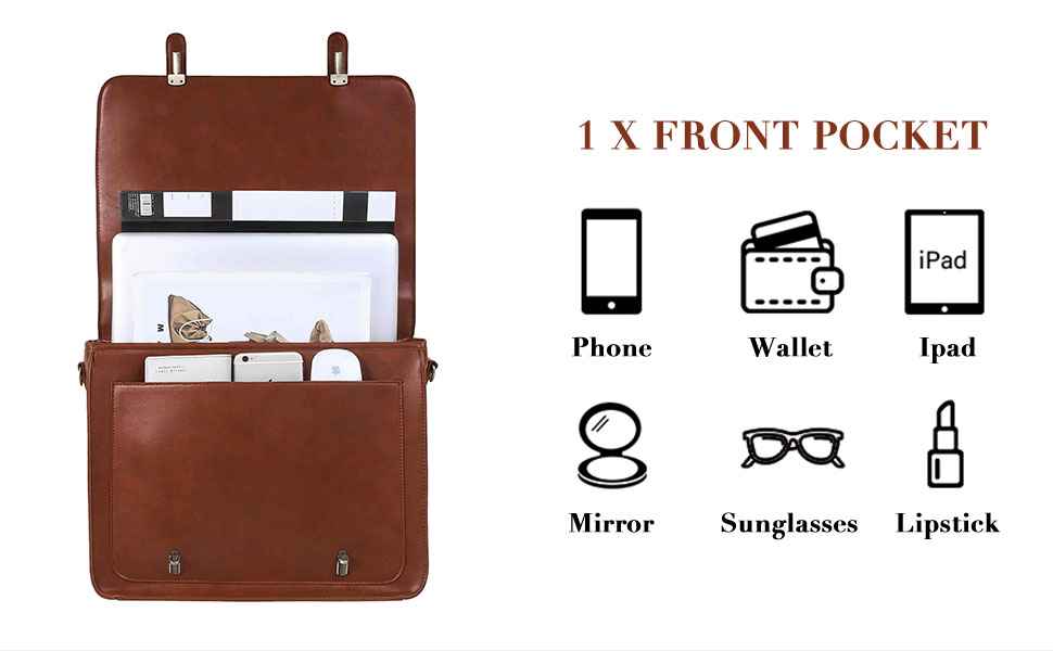 women leather briefcase