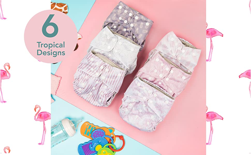 cloth diapers newborn baby reusable inserts liners covers boys waterproof washable girls pocket