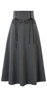 womens long flared skirt