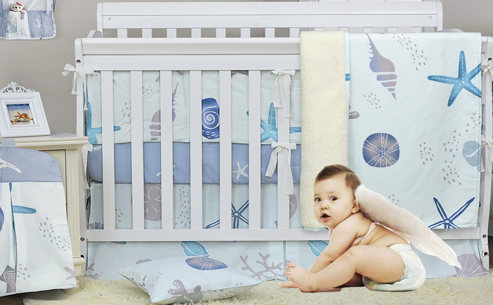 Brandream nautical crib bedding sets for boys
