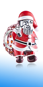 Christmas Santa Claus Carry with Gift Bag Charms fits Pandora Charm Bracelets
