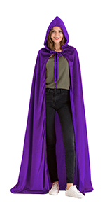 Hsctek Deluxe Velvet Cloak/Cape with Lined Hood for Adult