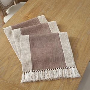 Cotton Linen Table Runner Easy Care for Family Dining Table