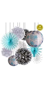 frozen inspired winter holiday decorations