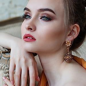 Women earrings love earrings white gold rose gold 14k yellow gold Halo earrings Christmas Gift