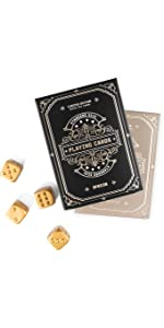 Playing card and dice set