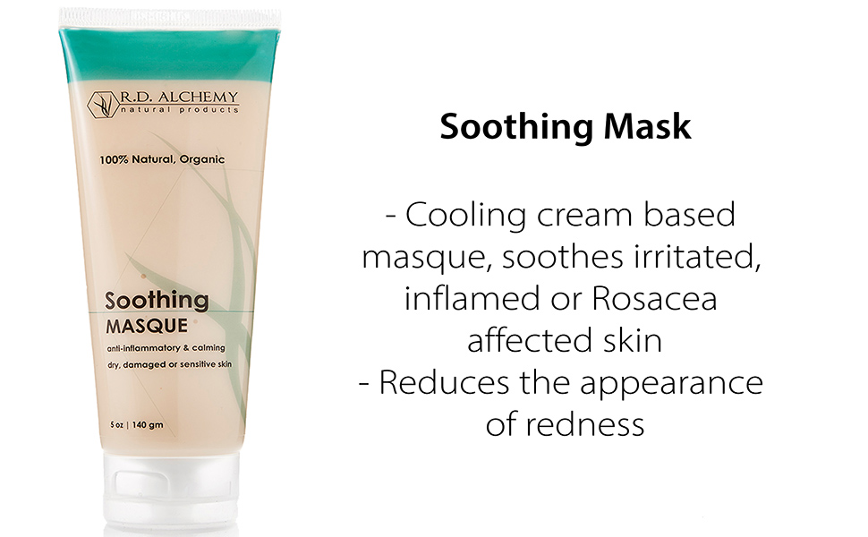 cooling cream based masque soothes irritated inflamed or rosacea affected skin reduces redness