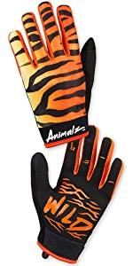 rocride animalz orange tiger gloves