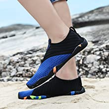 Anti-slip Sole design with shock absorption, Breathable and Smooth Upper Fabric