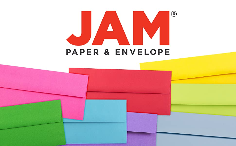 jam paper #10 business colored envelopes