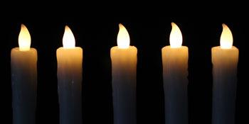 warm white LED candle