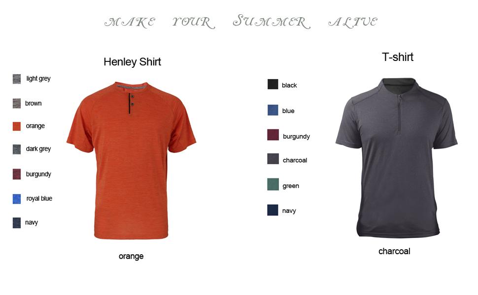 performance henley shirts,henley t shirts,crew neck t shirt,mens henley tee,henley work shirts