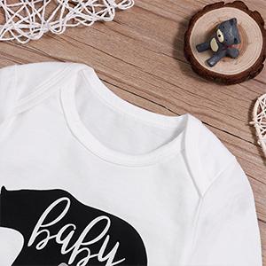 Baby Boys Girls Bodysuit Baby Bear Long Sleeve Romper One-Piece Onesies