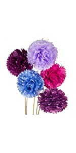 multicolor purples