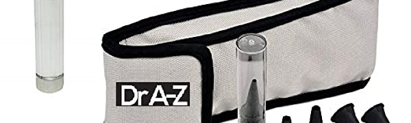 Dr A-Z LED Pocket Otoscope Adult Pediatric Disposable Specula Tips Case Full Spectrum Pocket Clip
